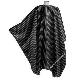 Barber Cape Black white pinstripe