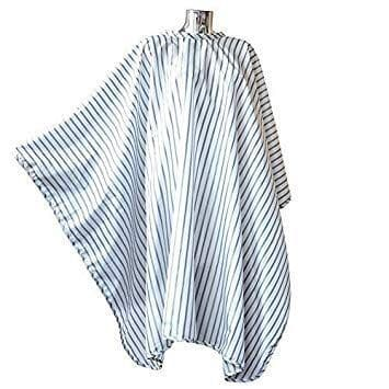 Barber Cape White black pinstripe