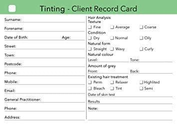 Record Cards Tinting