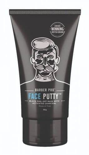 BarberPro Face Putty Peel-Off Mask with Activated Charcoal 90ml tube