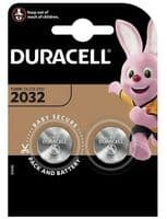 Duracell CR2032 Lithium Coin Cell Battery (2 Pack)