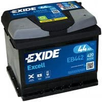 EB442 Exide Excell Car Battery 44Ah 420A Type 063
