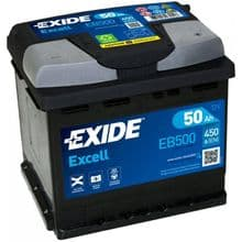 EB500 Exide Excell Car Battery 50Ah 450A Type 012