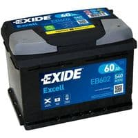 EB602 Exide Excell Car Battery 60Ah 540A Type 075