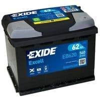 EB620 Exide Excell Car Battery 62Ah 540A Type 027