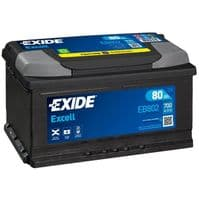 EB802 Exide Excell Car Battery 80Ah 700A Type 110