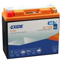 ELT12B Exide Li-Ion Lithium Motorbike Battery - Replaces YT12B-BS YT14B-BS YB16AL-A2