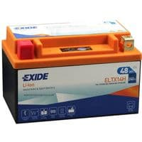 ELTX14H Exide Li-Ion Lithium Motorbike Battery - Replaces YTX14-BS YTX14H-BS