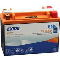 ELTX20H Exide Li-Ion Lithium Motorbike Battery - Replaces YTX20-BS YB16B YTX20L-BS YB16C YTX20HL-BS