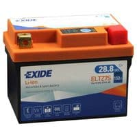 ELTZ7S Exide Li-Ion Lithium Motorbike Battery - Replaces YTX7L-BS YTZ7S ETZ7S