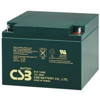 EVX12260 CSB Battery 12V 26Ah