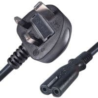 Figure 8 Power Lead 2M Fig 8 Power Cable Mains Pack of 5