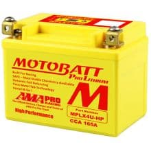 Lithium Motorcycle Battery MPLX4U-HP - Replaces YB4L-B YTX4L-BS YTZ5S YT4L-BS YB4L-A