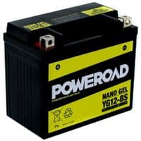 YG12-BS Poweroad Nano Gel Motorcycle Battery - Replaces YTX12-BS YTX14-BS