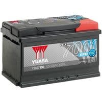 Yuasa YBX7100 EFB Start Stop Car Battery 12V 65Ah 650A